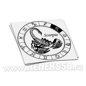 Наклейка знака зодиака Скорпион-2