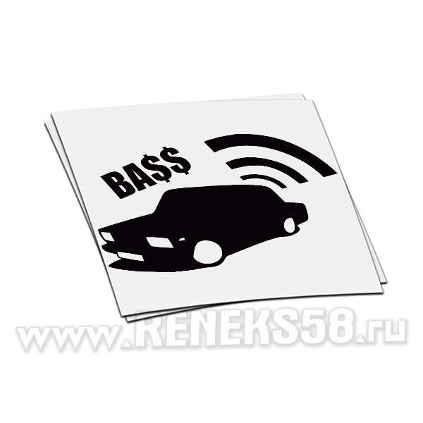 Наклейка Bass