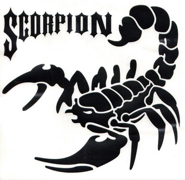 Картинка скорпиона с надписью, для открыток пенсия