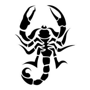 Наклейка Скорпион 4