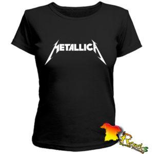 Черная женская футболка Metallica