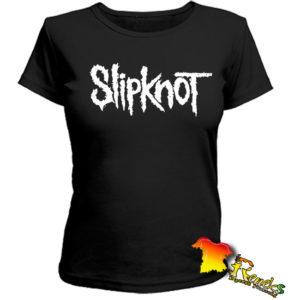 Черная женская Футболка Slipknot
