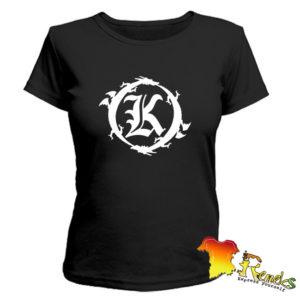 Черная женская футболка Кукрыниксы