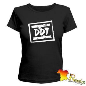 Черная женская футболка ДДТ
