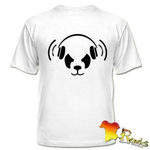 Футболка Панда в наушниках