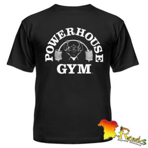 Черная футболка Powerhouse Gym