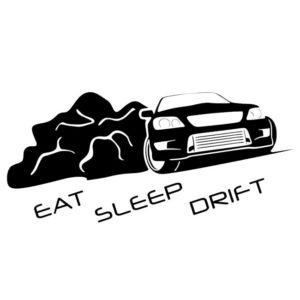 Наклейка на авто Eat Sleep Drift 3