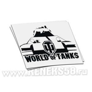 Наклейка на авто World of Tanks 4