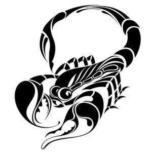 Наклейка на авто Скорпион 15