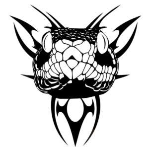 Наклейка на авто Голова змеи 2