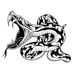Наклейка на авто Змея 2
