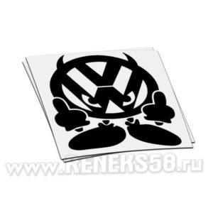 Наклейка Volkswagen дьявол