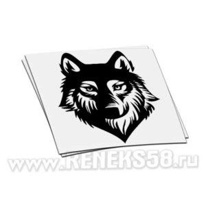 Наклейка Волк 3