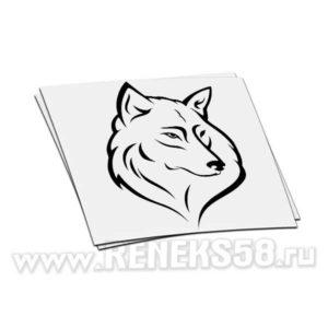 Наклейка на авто Волк 5