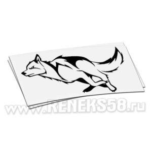 Наклейка на авто Волк бежит