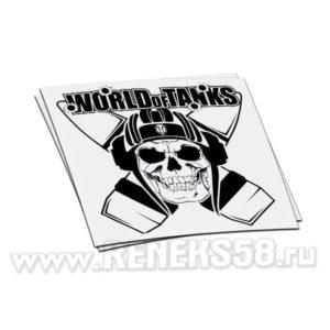 Наклейка World of Tanks череп