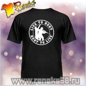 Черная футболка для охотника