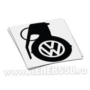 Наклейка Volkswagen граната