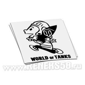 Наклейка World of Tanks снаряд