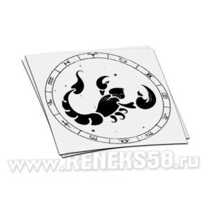 Наклейка знака зодиака Скорпион-1