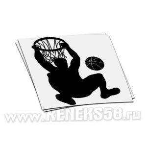 Наклейка на авто Баскетболист