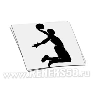 Наклейка на авто Баскетболист_1