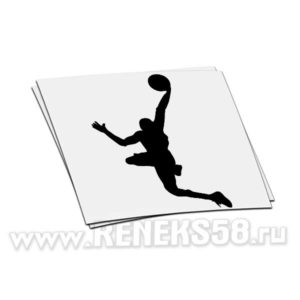 Наклейка на авто Баскетболист_2