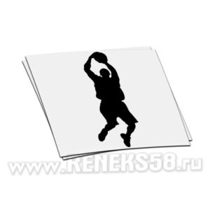 Наклейка на авто Баскетболист_3