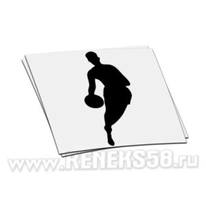 Наклейка на авто Баскетболист_4