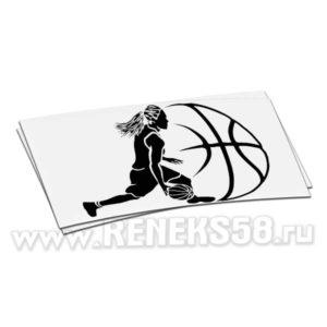 Наклейка на авто Баскетболистка
