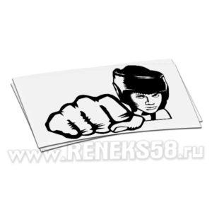 Виниловая наклейка Боксер1