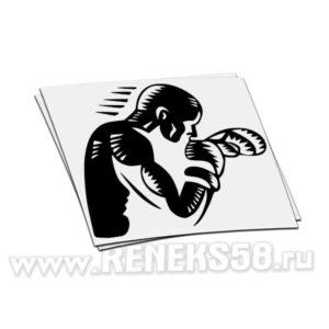 Виниловая наклейка Боксер_4