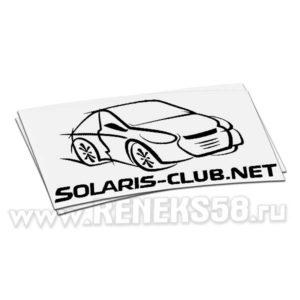Виниловая наклейка Solaris club