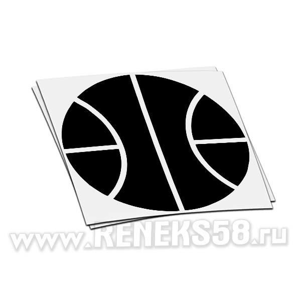 Наклейка на стекло авто Баскетбольный мяч