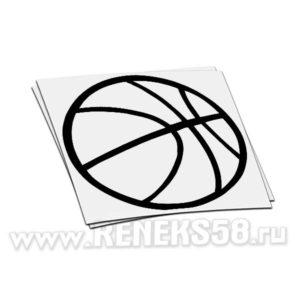 Наклейка на стекло авто Баскетбольный мяч_1
