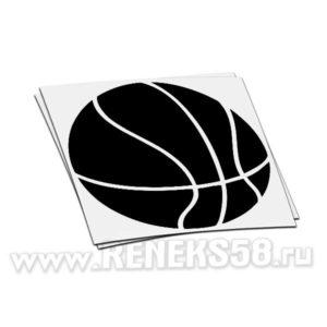 Наклейка на авто Баскетбольный мяч_2