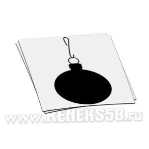Декоративная наклейка Елочный шар