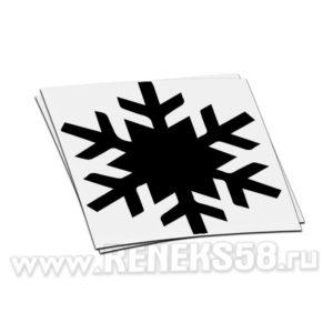 Новогодняя оконная наклейка Снежинка