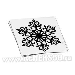 Кружевная снежинка новогодняя наклейка