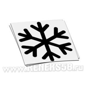 Снежинка наклейка на стекло