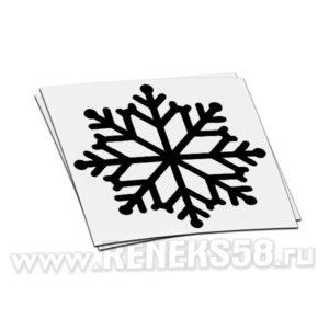 Интерьерная новогодняя наклейка Снежинка