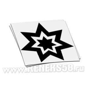 Наклейка новогодняя звезда