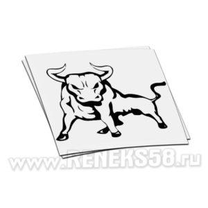 Наклейка на авто Бык вар.13