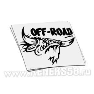 Наклейка бык off road