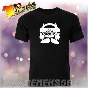 Черная футболка Ford Devil