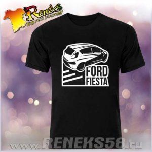 Черная футболка Ford Fiesta