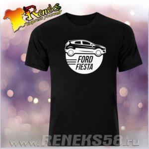 Черная футболка Ford Fiesta круг