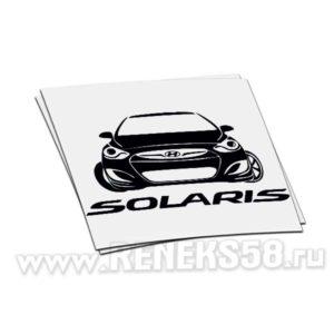 Наклейка Hyundai Solaris спереди