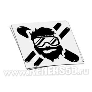 Наклейка Сноубордист в маске