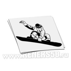 Наклейка Сноубордист в полете